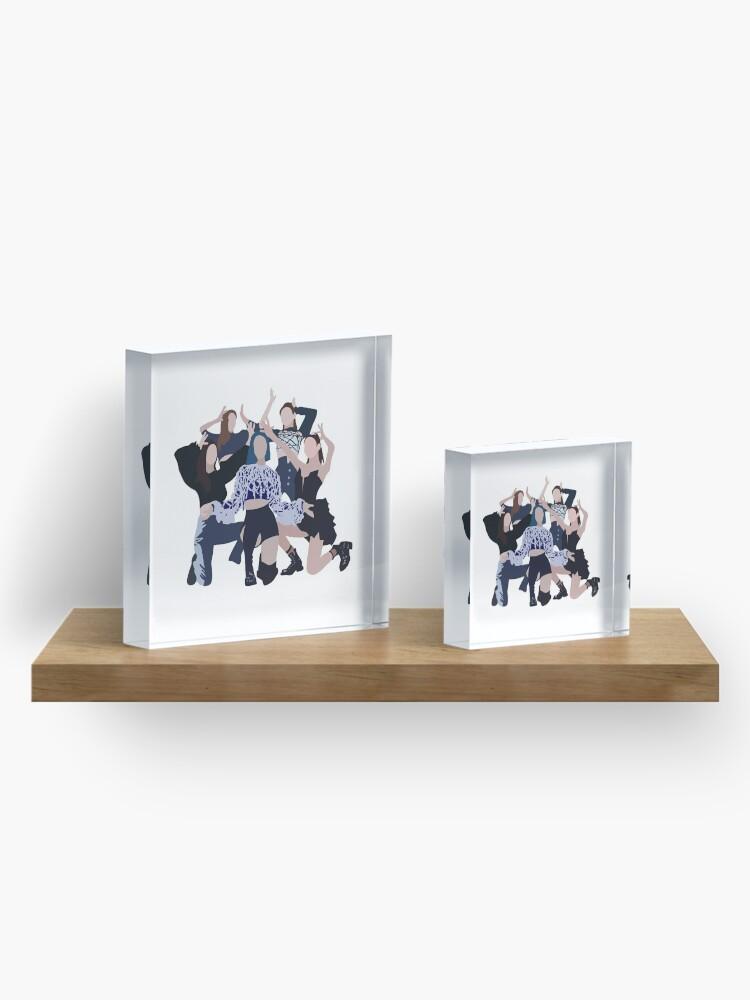 Alternate view of ITZY WANNABE Digital Illustration  Acrylic Block