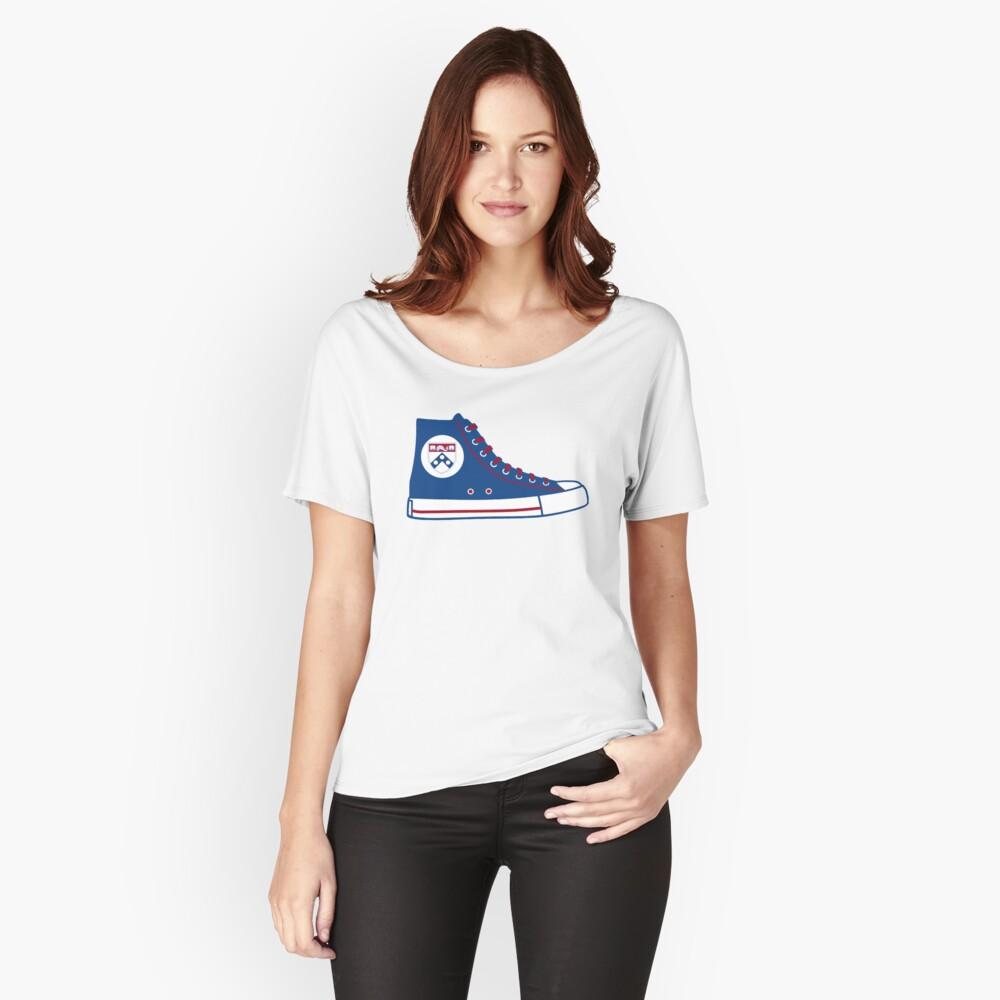 University of Pennsylvania UPenn Converse Sneaker Women's Relaxed Fit T-Shirt Front