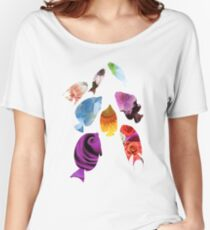 Fish shaped Flowers Women's Relaxed Fit T-Shirt