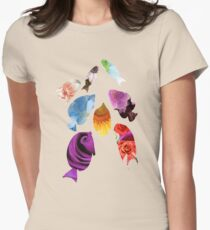 Fish shaped Flowers T-Shirt