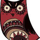 Deco Owl - Edgar OWLen Poe by Cassie M.