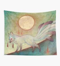 The Messenger - Kitsune, Fox, Yokai Wall Tapestry