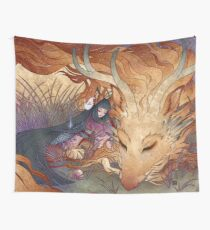 Slumber - Kitsune Fox Dragon Wall Tapestry