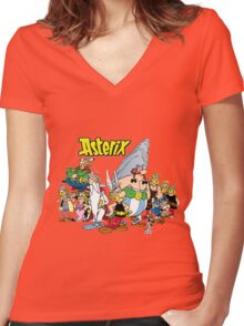 asterix and obelix Women's Fitted V-Neck T-Shirt