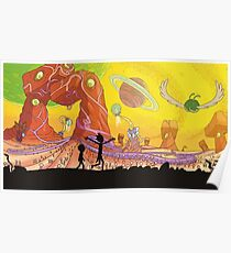 Rick and Morty Exploring Poster