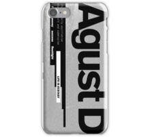 AGUST D ALBUM COVER iPhone Case/Skin