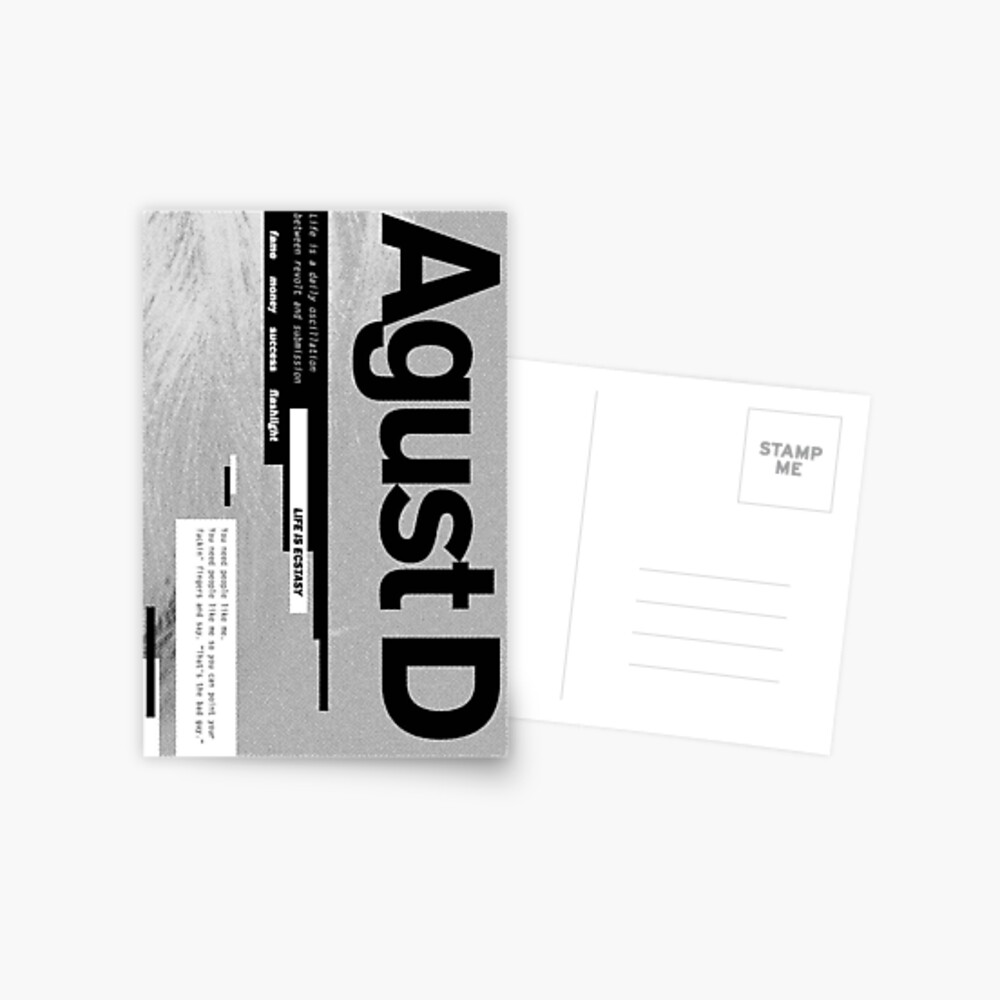 Agust D Album Cover Greeting Card By Agmdesigns Redbubble