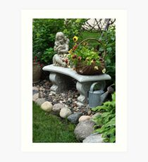 The Romantic Gardener Art Print