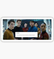 Star Trek Crew - The Look  of Annoyance Sticker