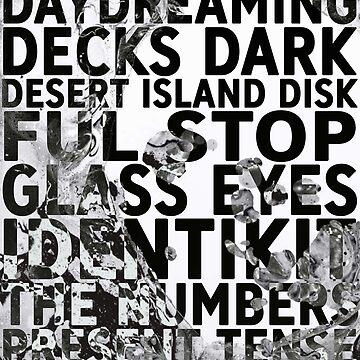 Radiohead - A Moon Shaped Pool Album Song List Design #3 by joshwaites