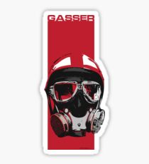 Gasser-Red Glossy Sticker