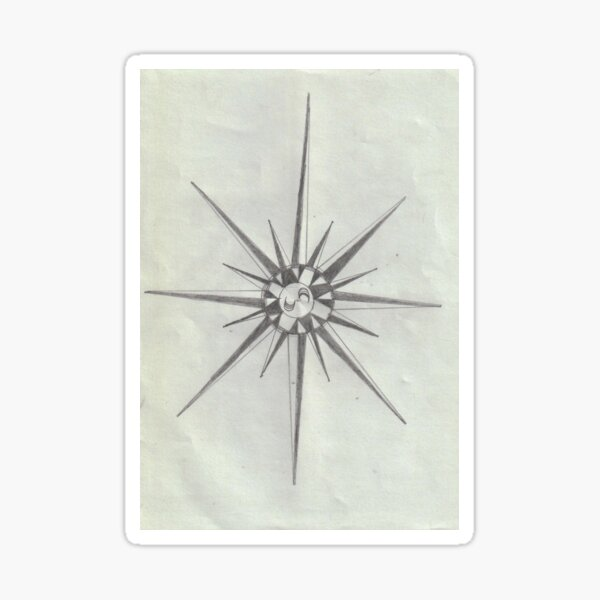 Geometrical Star Shape Sticker