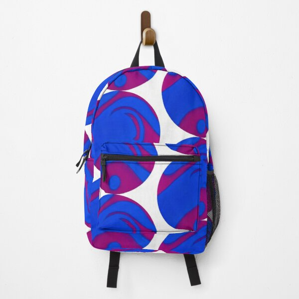 Abstract Purple Blue Sphere Spray Paint Art Backpack