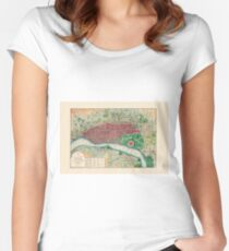Map Of Calcutta 1832 Women's Fitted Scoop T-Shirt