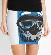 Gasser-Blue Mini Skirt
