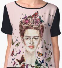 Frida Kahlo Flowers Butterflies Women's Chiffon Top