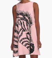 zebra A-Line Dress