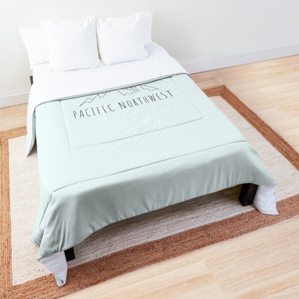Pacific Northwest Tees Pacific Northwest Mountain Hiking Comforter