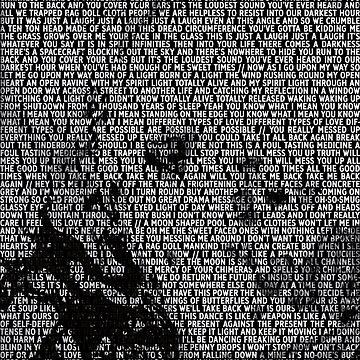 Radiohead - A Moon Shaped Pool Album Lyric Design #1 by joshwaites