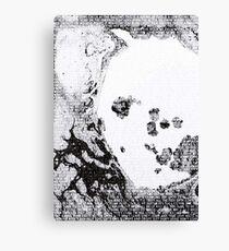 Radiohead - A Moon Shaped Pool Album Lyric Design #2 Canvas Print