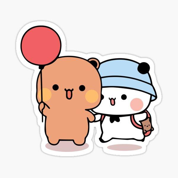 Bear and Panda Bubu Dudu Balloon Sticker