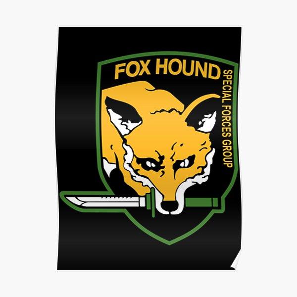 Metal Gear Solid - Fox Hound Emblem Classic T-Shirt Poster
