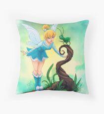 Tinkerbell Blue Fairy Throw Pillow