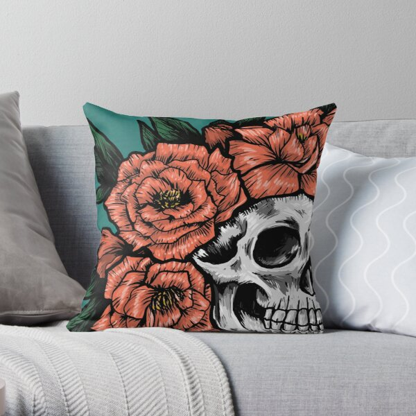 Crown of Peonies Throw Pillow