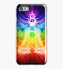 Chakras and energy flow on human body art photo print iPhone Case/Skin