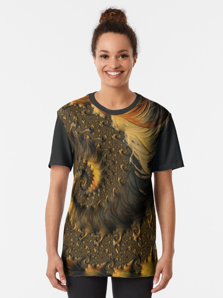 Alternate view of Feathered Fractals Graphic T-Shirt