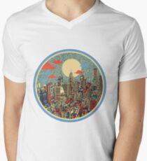 philadelphia panorama 3 Men's V-Neck T-Shirt