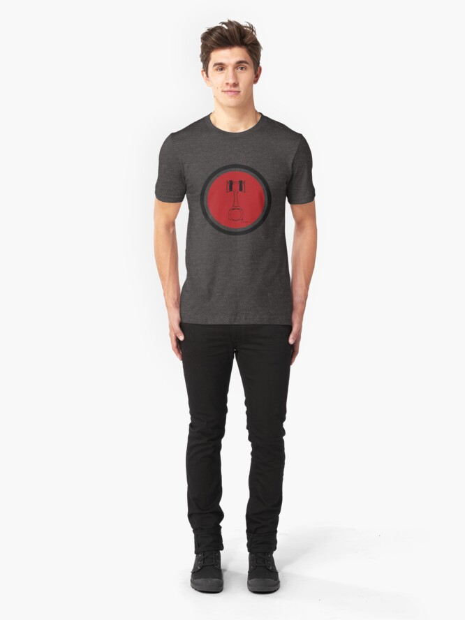 Alternate view of Race Piston-Red Slim Fit T-Shirt