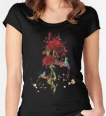 Lovely - Splatter Women's Fitted Scoop T-Shirt