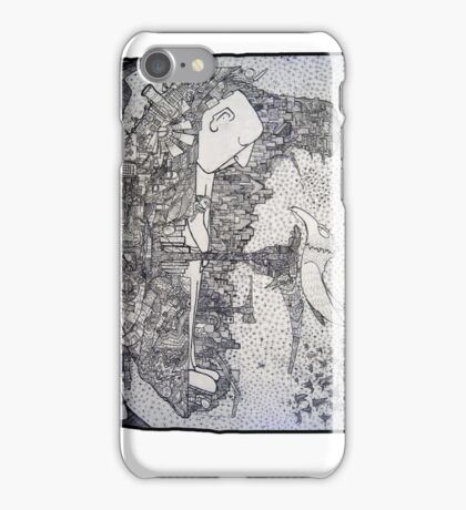 Space Pirate Ship - Sleeping Giant iPhone Case/Skin