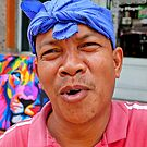 Balinese Print Artist by V1mage