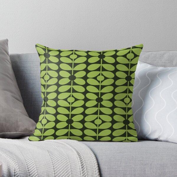 orla kiely-multi tige design, vert charbon, noir Coussin