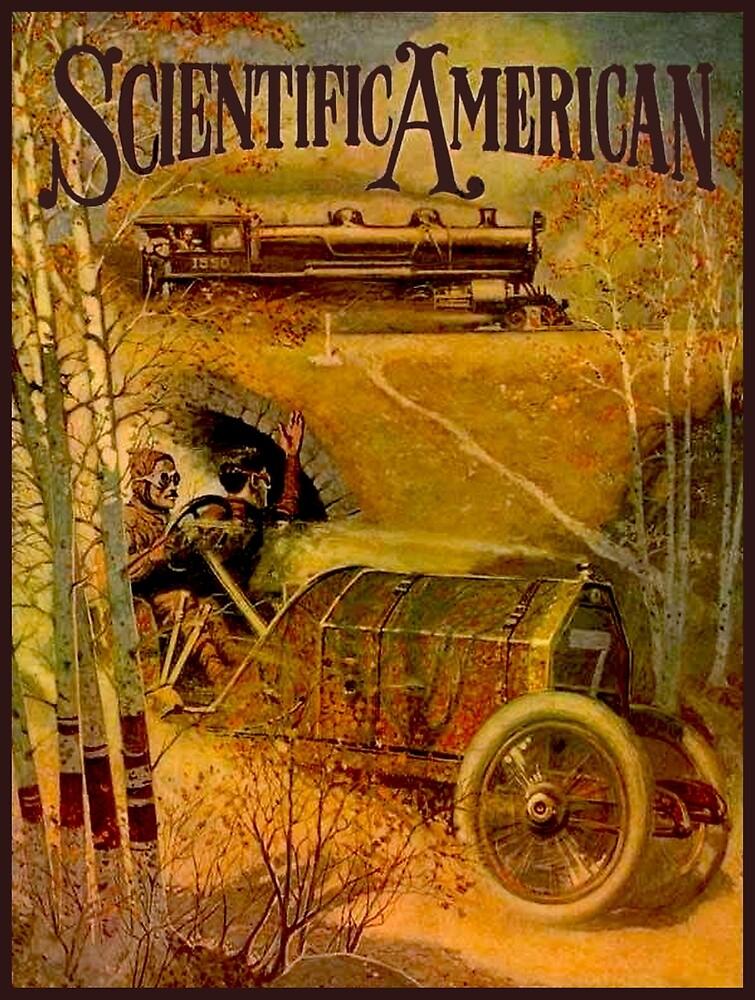 """SCIENTIFIC AMERICA"" Vintage Grand Prix Advertising Print by posterbobs"