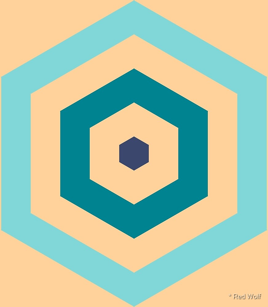 Geometric Pattern: Hexagon Hive: Dream by * Red Wolf