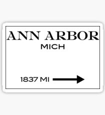 Prada Marfa - Ann Arbor Sticker