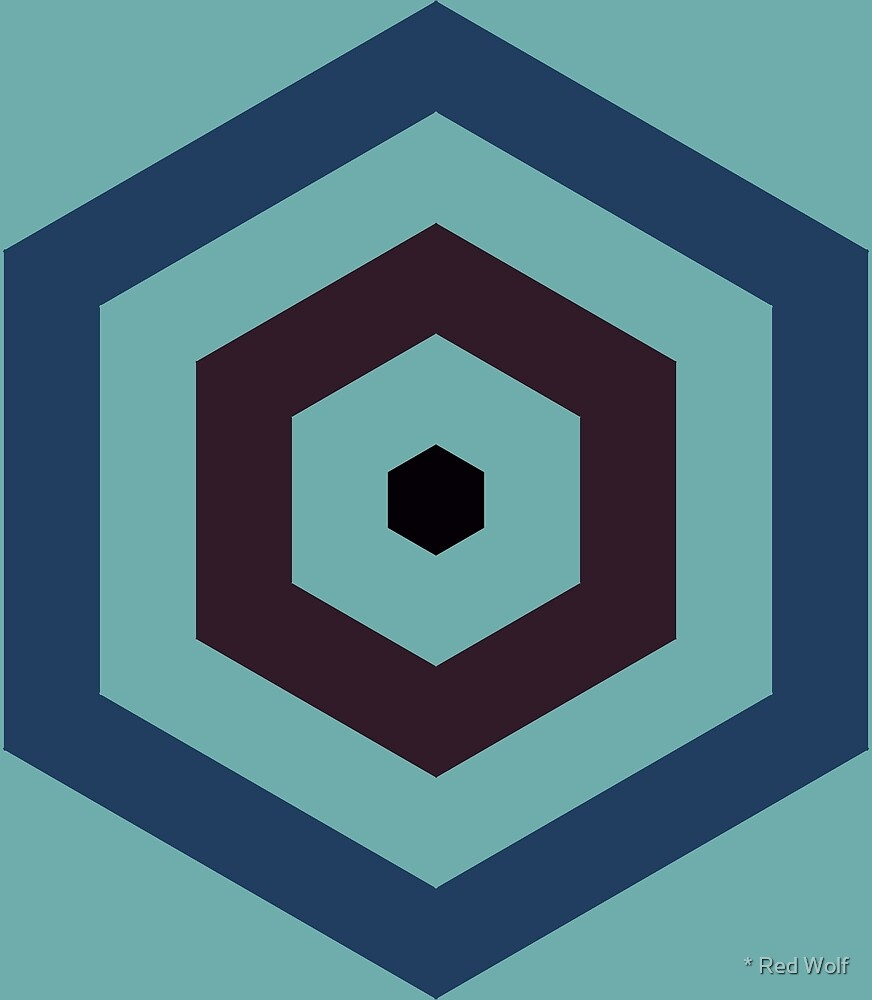 Geometric Pattern: Hexagon Hive: Midnight by * Red Wolf
