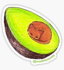 Avocato - Cat Sticker Sticker