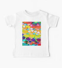 Abstract Colorful Flower Art Kids Clothes