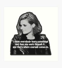STANA KATIC, QUOTE Art Print