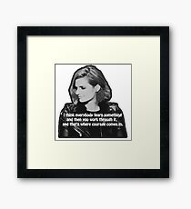 STANA KATIC, QUOTE Framed Print