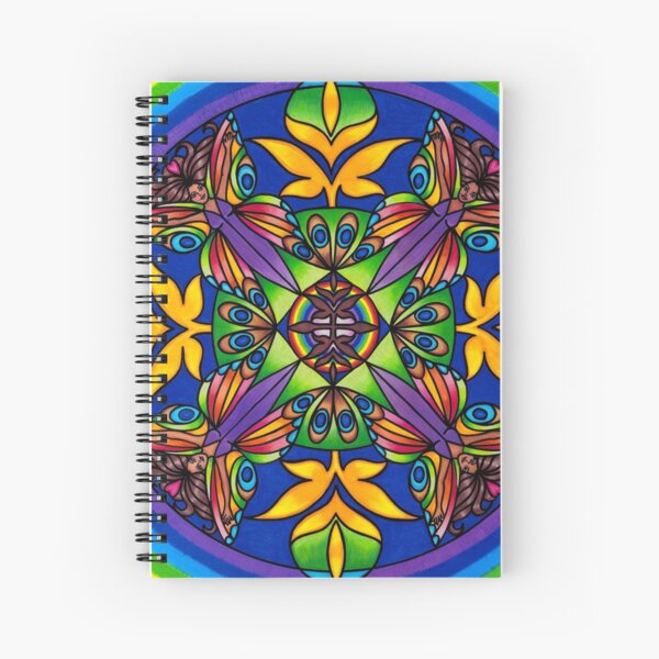 Mandala , BUTTERFLY GODDESS Spiral Notebook