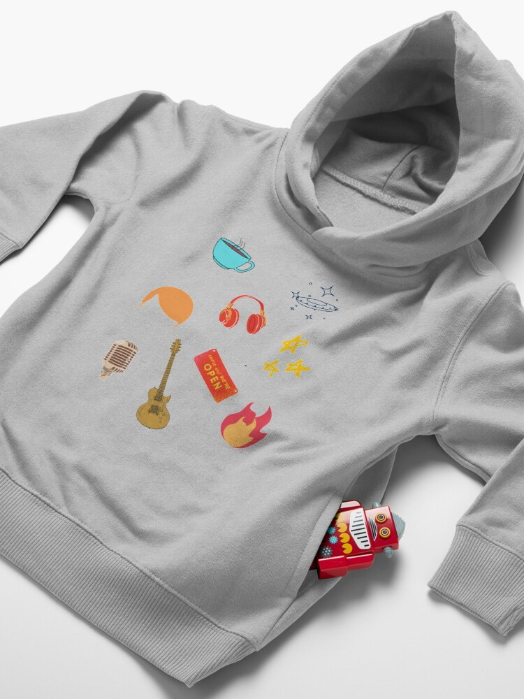Alternate view of Conan Obrien colored Toddler Pullover Hoodie