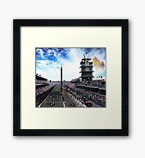 "Indianapolis 500 Start collage ""Back home again in Indiana"" Framed Print"