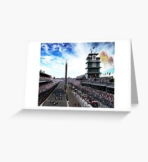 "Indianapolis 500 Start collage ""Back home again in Indiana"" Greeting Card"
