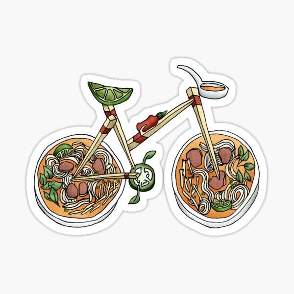 Pho Wheels Sticker