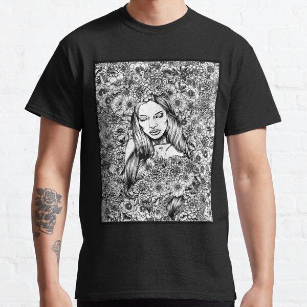 Flora's Shroud (Black and White) Classic T-Shirt